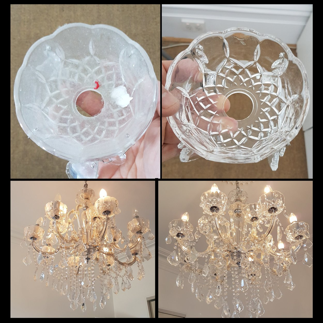 Cleaning the cups of a chandelier mr chandelier chandelier cleaning the cups of a chandelier arubaitofo Choice Image